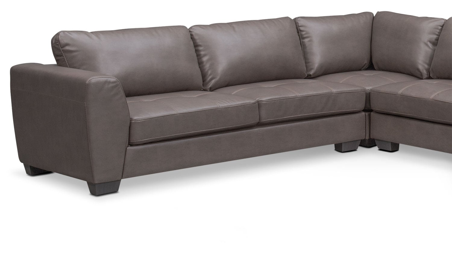 Santana 4 piece sectional with right facing chaise gray for American signature furniture commercial chaise