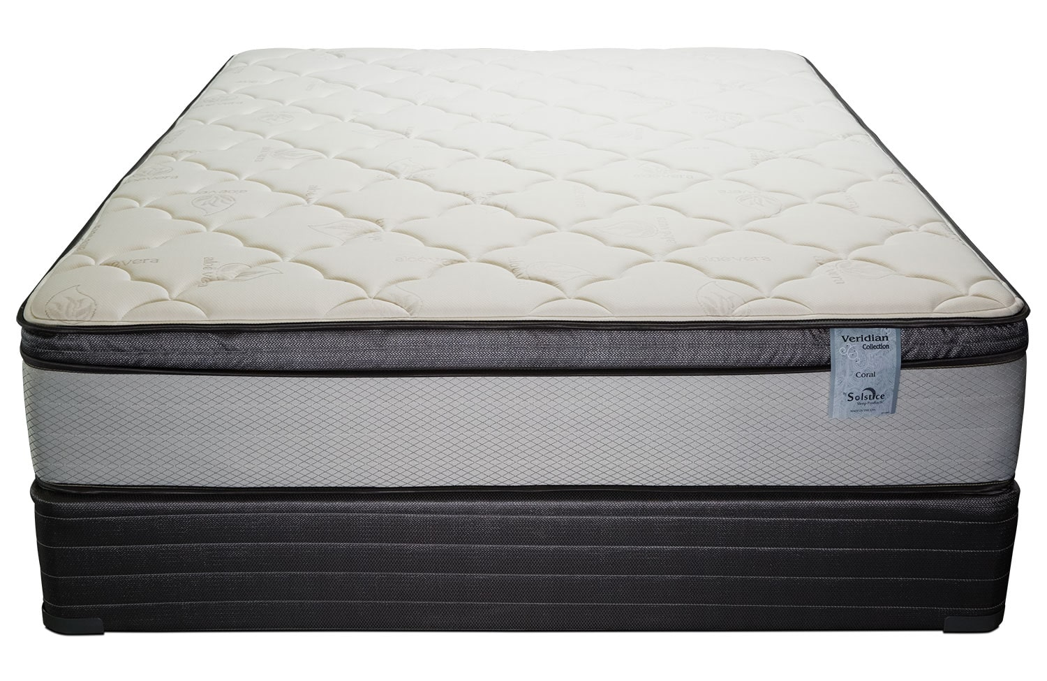 Mattresses and Bedding - Oasis Plush King Mattress and Split Foundation Set