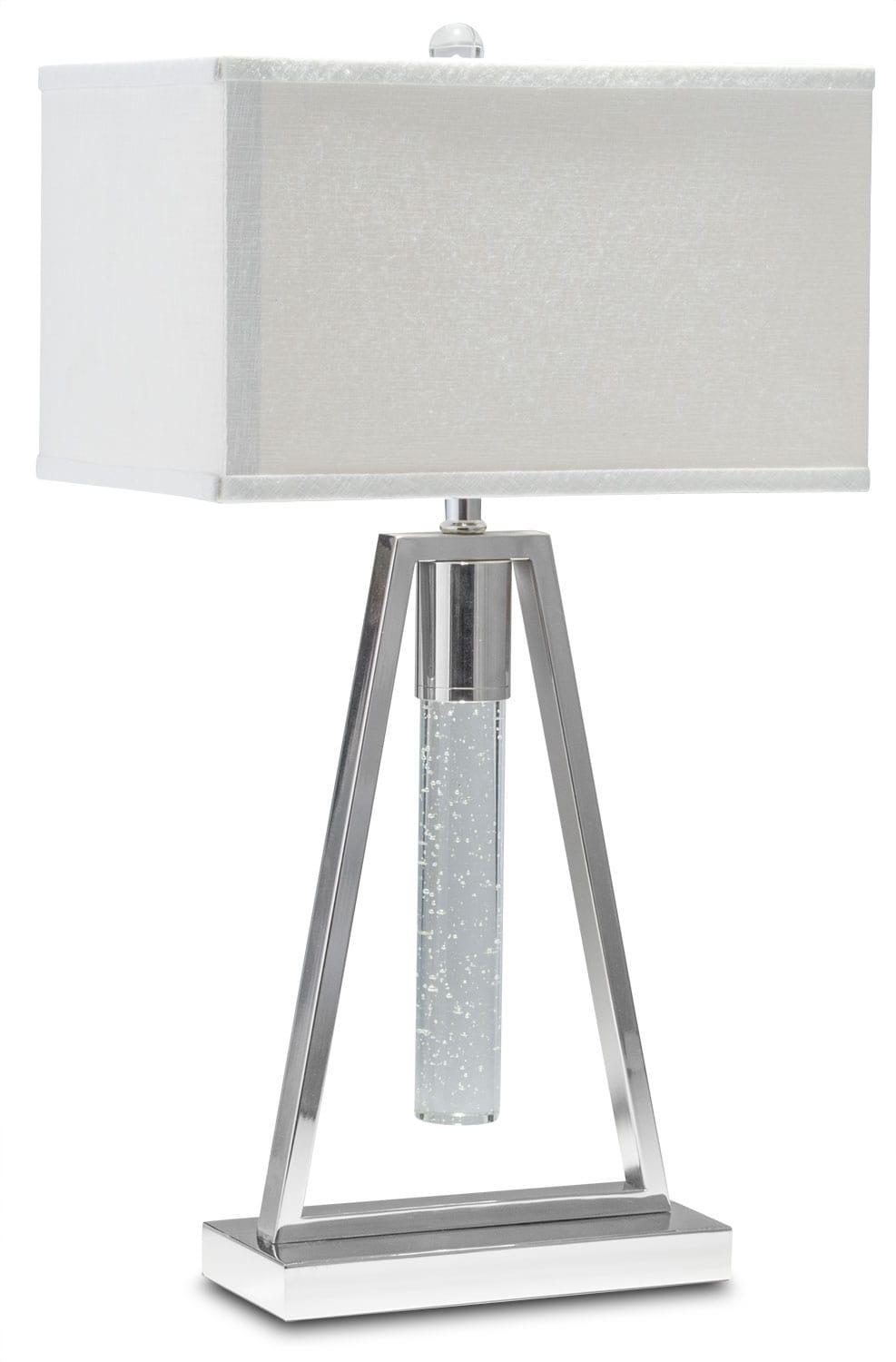 Ice Table Lamp - Nickel