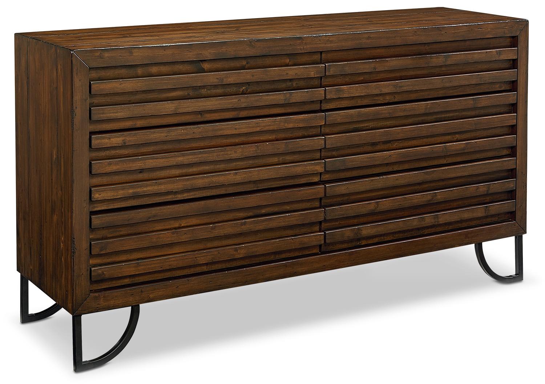 Bedroom Furniture - Stacked Slat Dresser