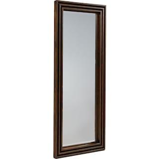 Stacked Slat Floor Mirror