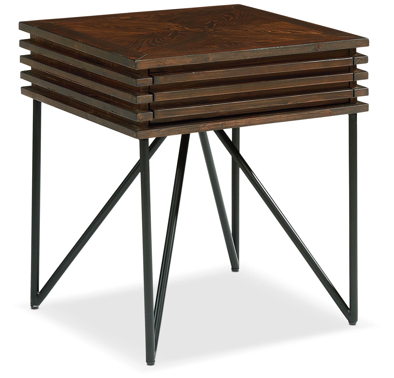 Bedroom Furniture - Stacked Slat Side Table