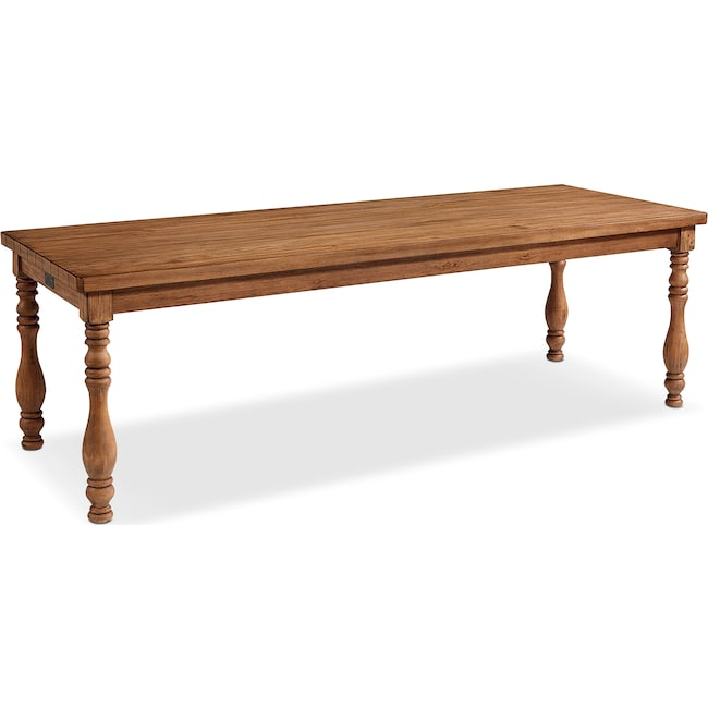 Dining Room Furniture - 7' Vase Turned Dining Table - Bench