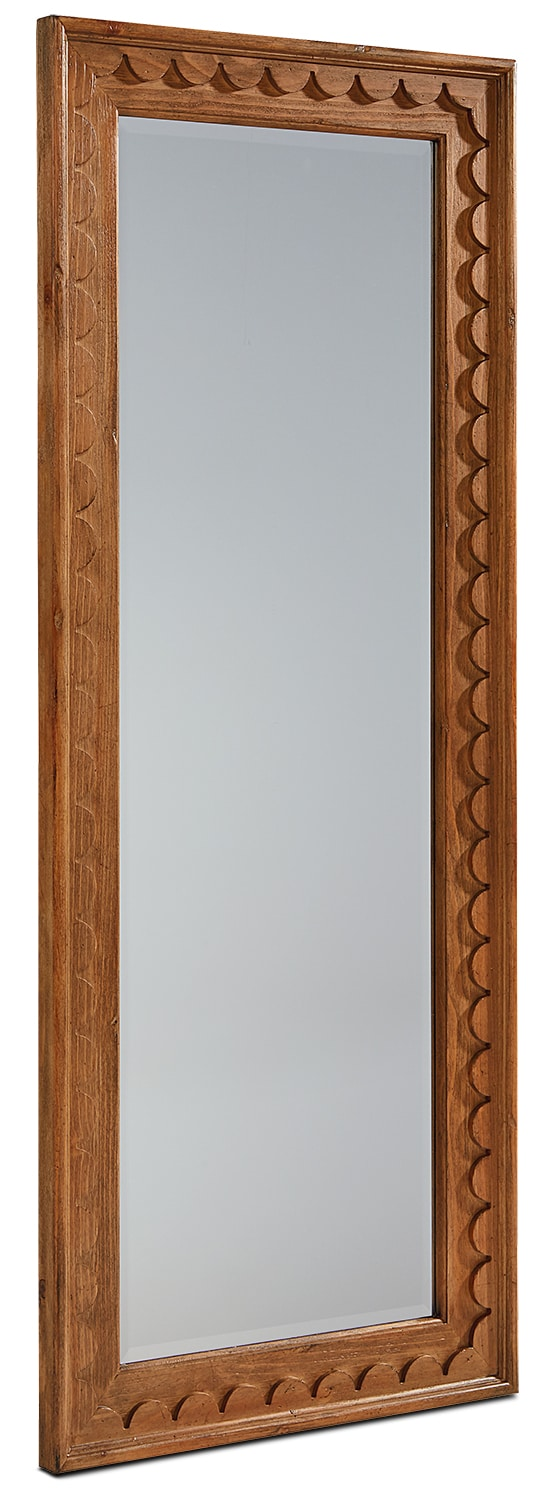 Scallop Floor Mirror