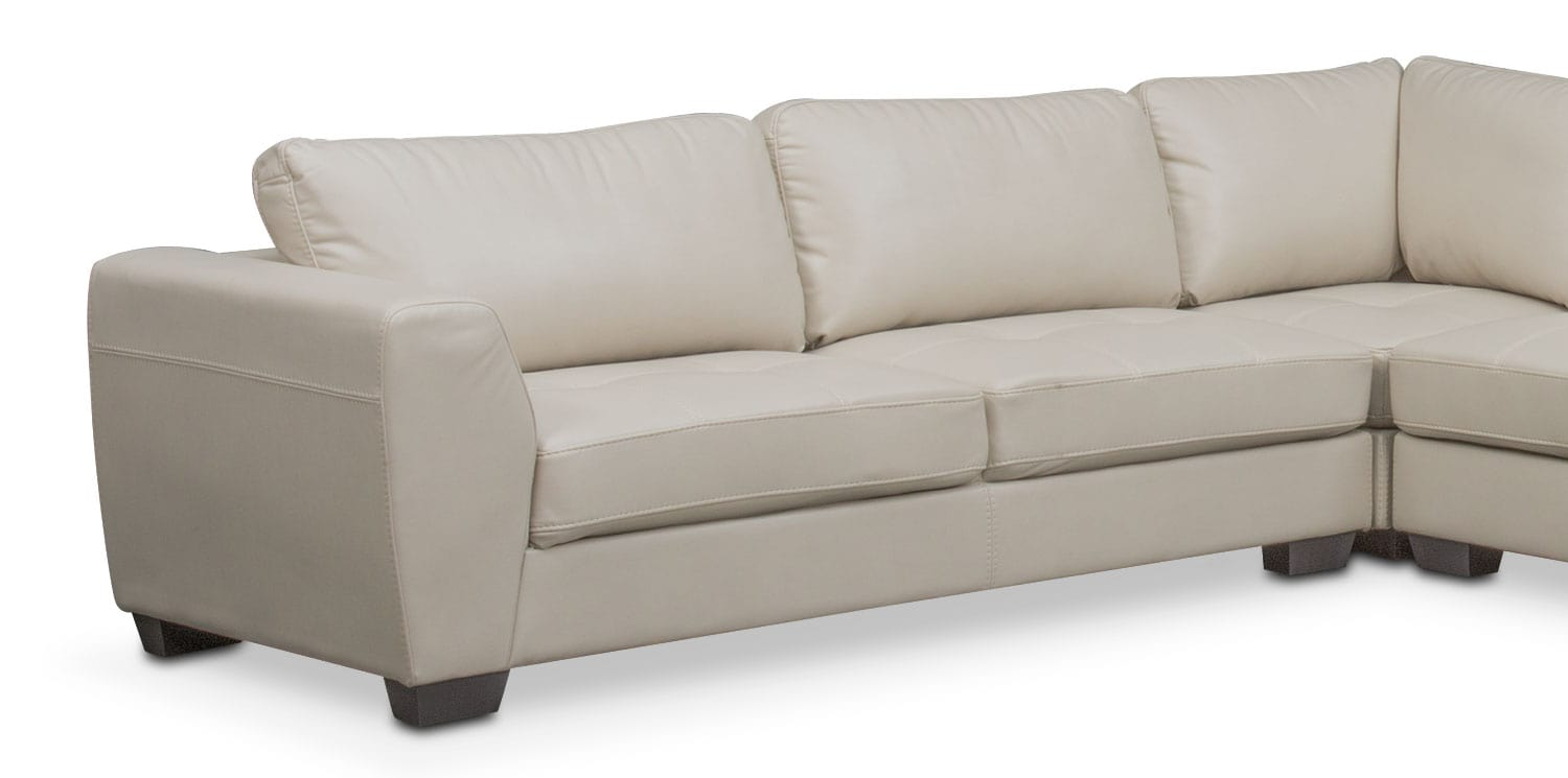 Santana 4 Piece Sectional with Right Facing Chaise Ivory