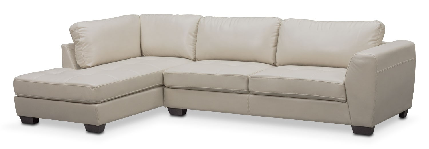 Santana 2-Piece Sectional with Left-Facing Chaise - Ivory