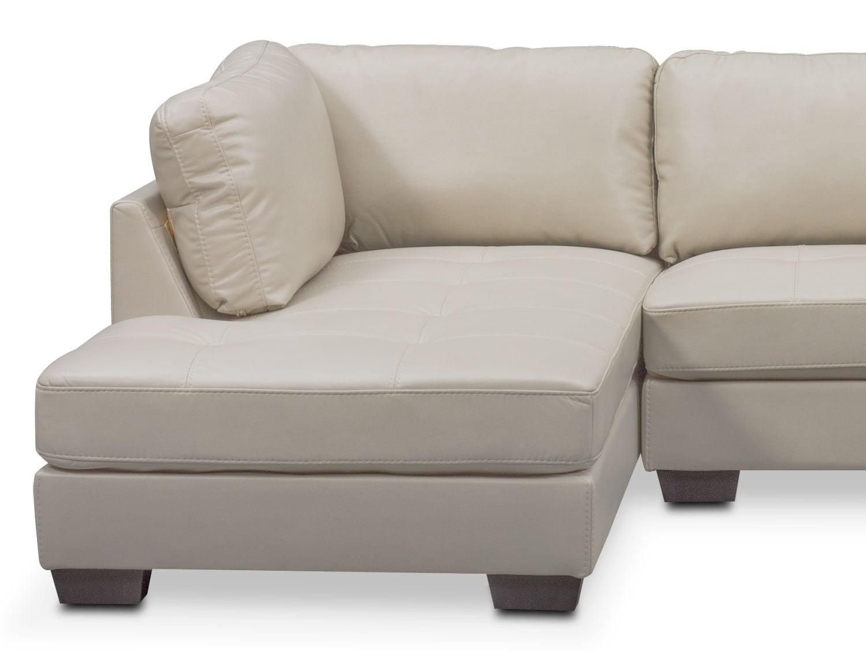 Santana 2 piece sectional with left facing chaise ivory for 2 piece sectionals with chaise