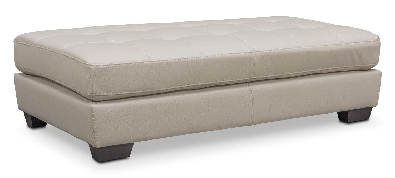 Living Room Furniture - Santana Cocktail Ottoman - Ivory