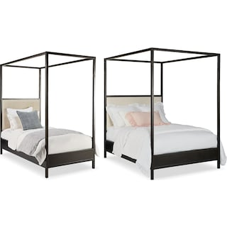 The Industrial Youth Framework Canopy Bed Collection