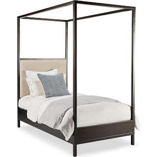 Framework Twin Upholstered Canopy Bed
