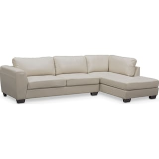 Santana 2-Piece Sectional with Right-Facing Chaise - Ivory