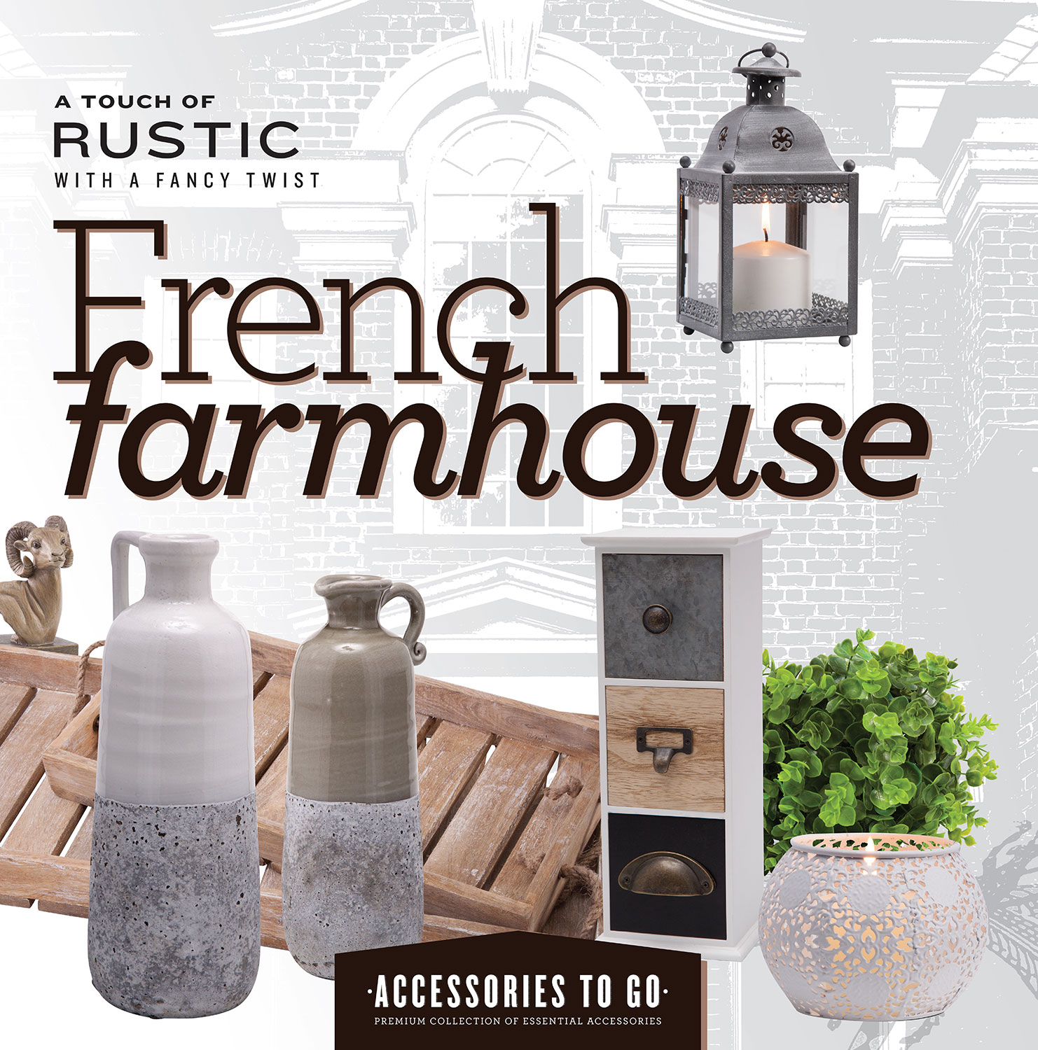 Home Accessories - French Farmhouse 15-Piece Accessory Set