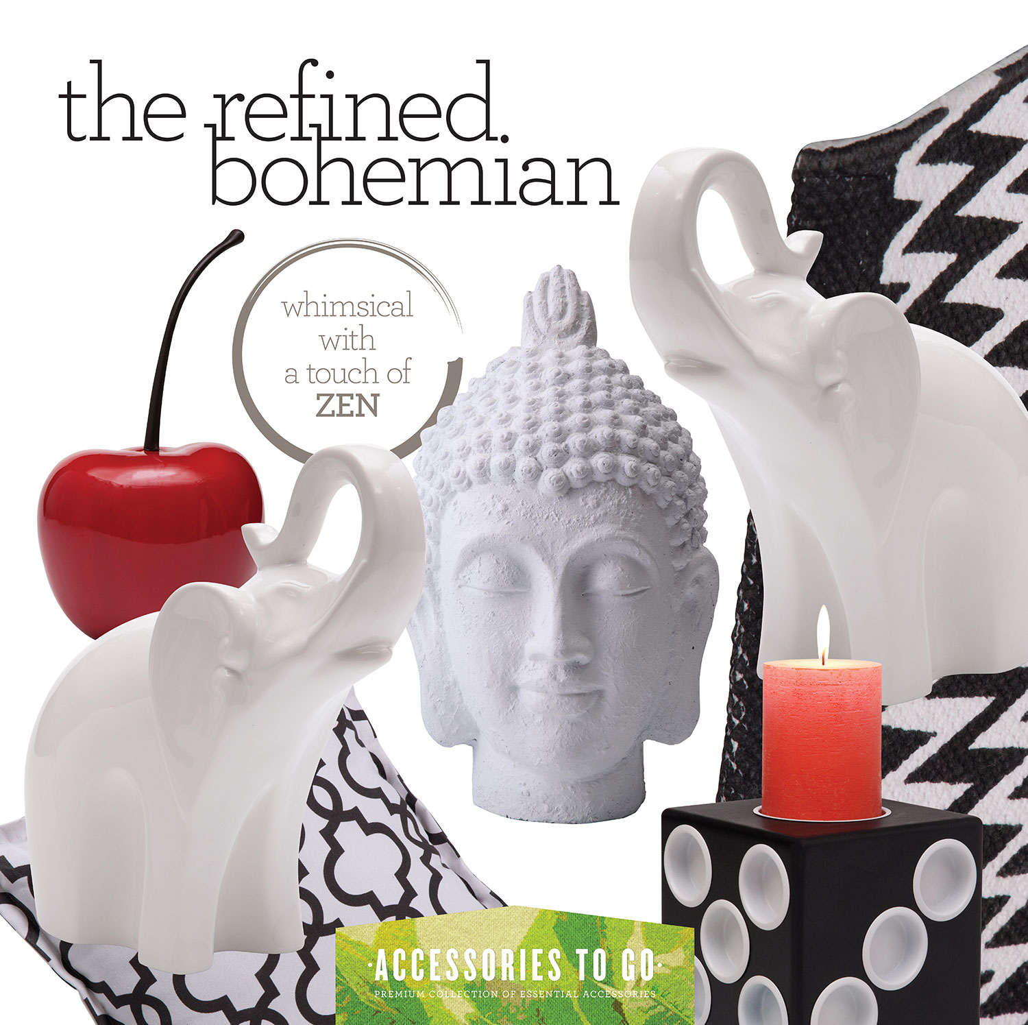 Home Accessories - Refined Bohemian 17-Piece Accessory Set