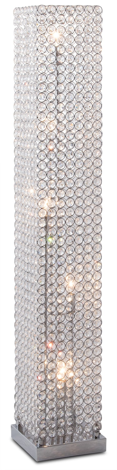 Home Accessories - Crystal Tower Floor Lamp
