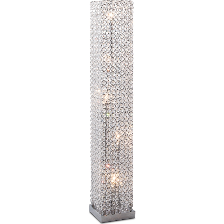 Crystal Tower Floor Lamp American Signature Furniture