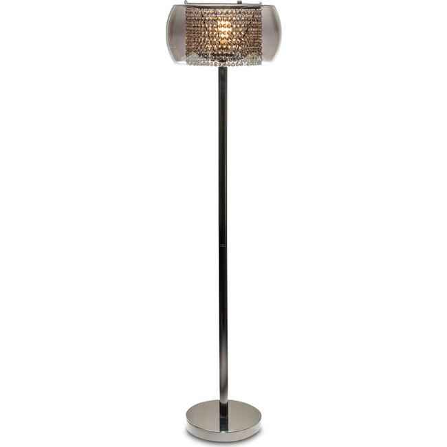 Home Accessories - Crystal Floor Lamp - Matte Black