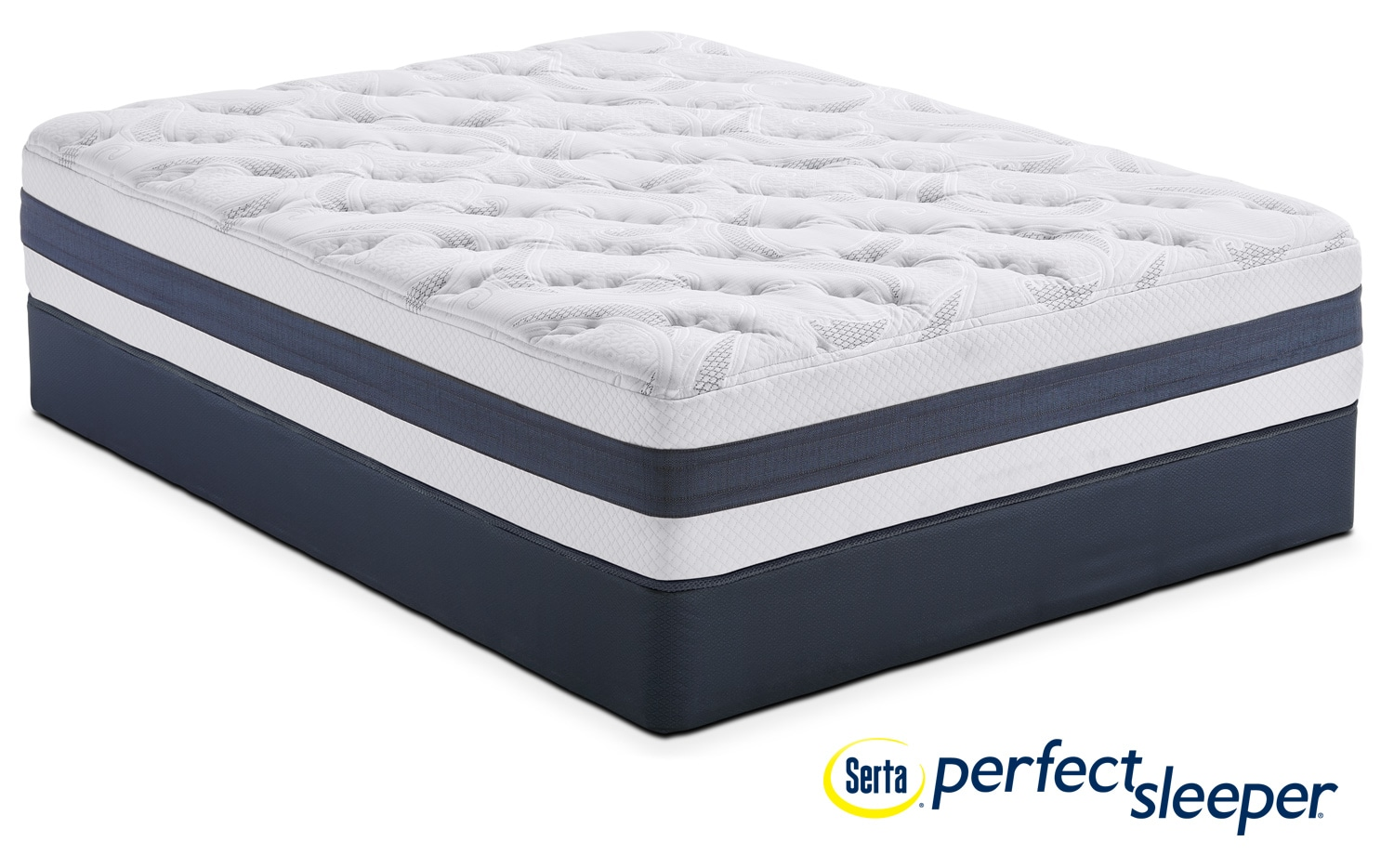 Landing Manor Plush Queen Mattress and Low-Profile Foundation Set