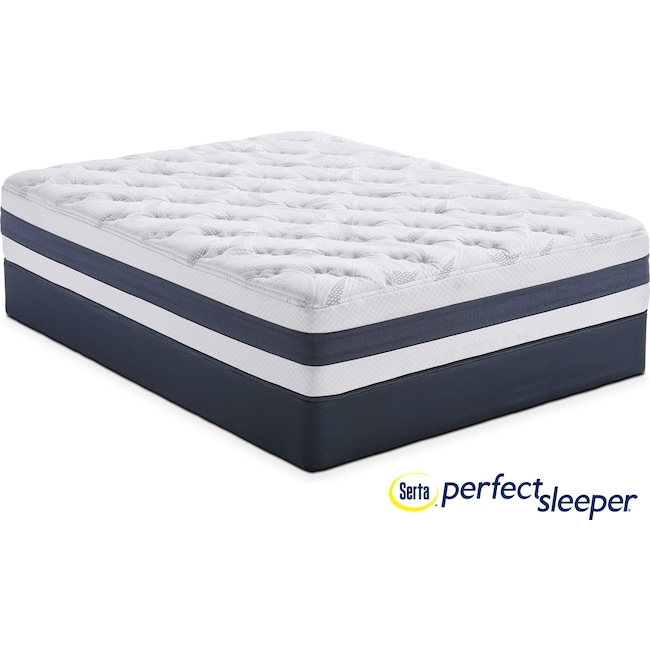 Mattresses and Bedding - Landing Manor Plush Queen Mattress and Low-Profile Foundation Set