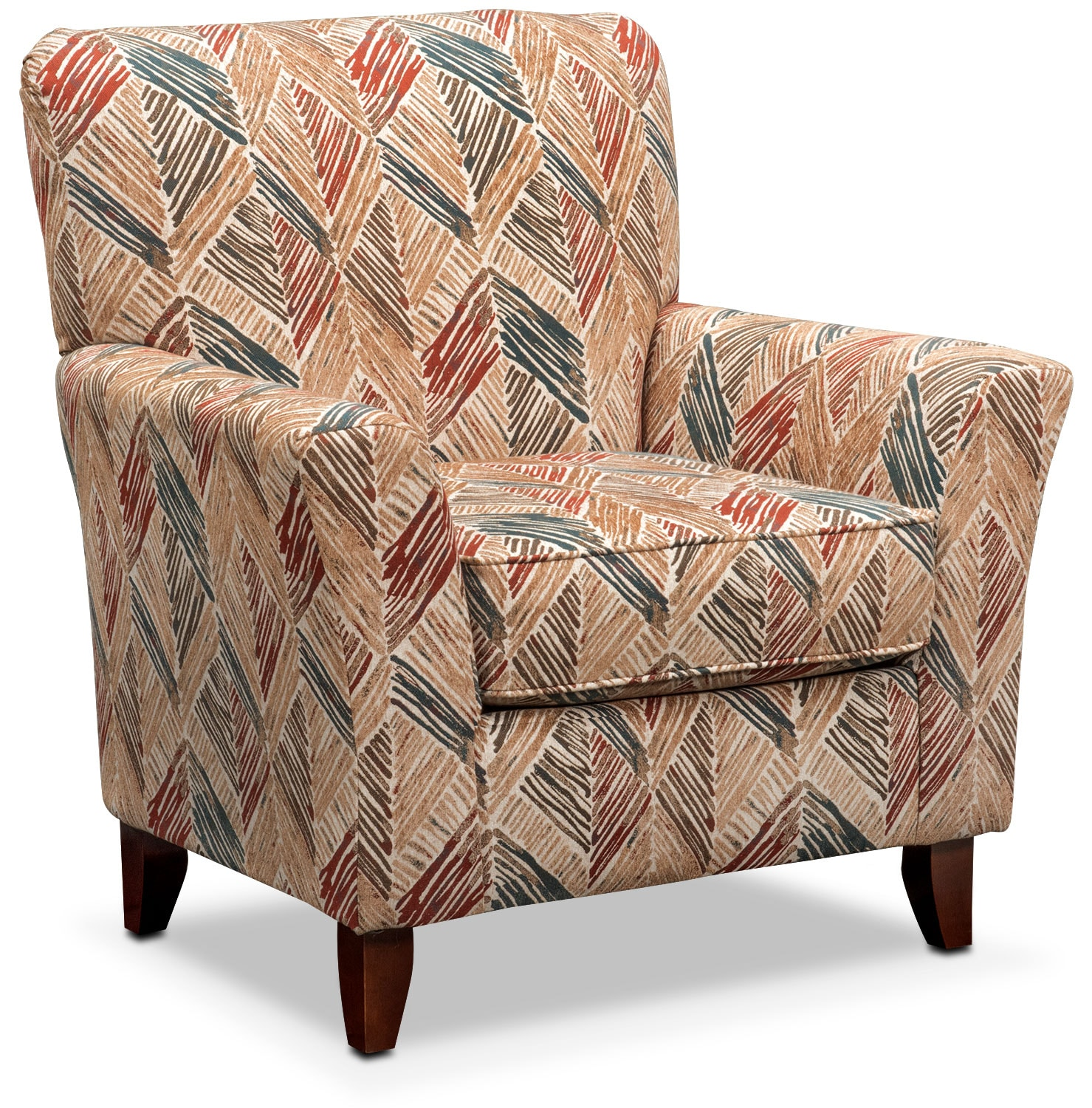 Living Room Furniture - Lakelyn Accent Chair - Cocoa Multi