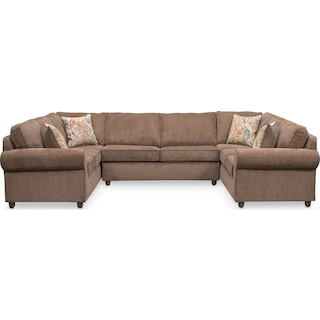 Lakelyn 3-Piece Sectional - Cocoa
