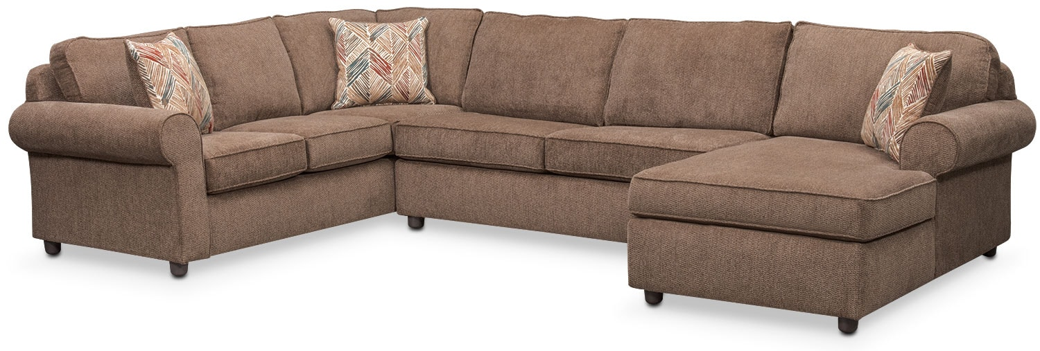 Lakelyn 3-Piece Sectional with Right-Facing Chaise - Cocoa