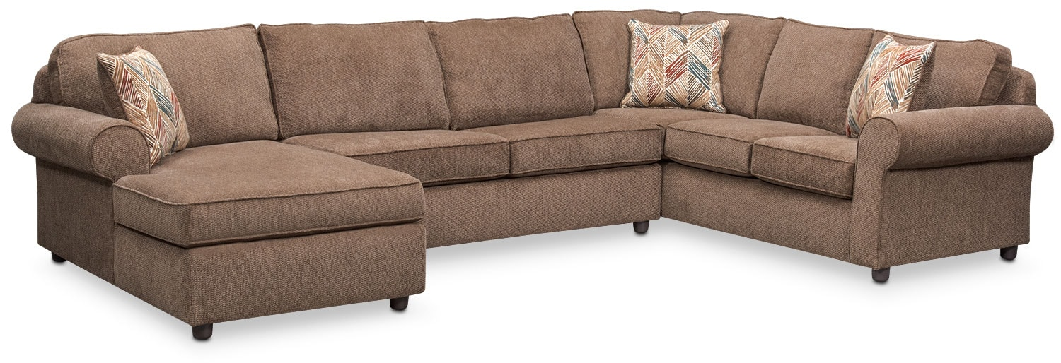 Lakelyn 3-Piece Sectional with Left-Facing Chaise - Cocoa