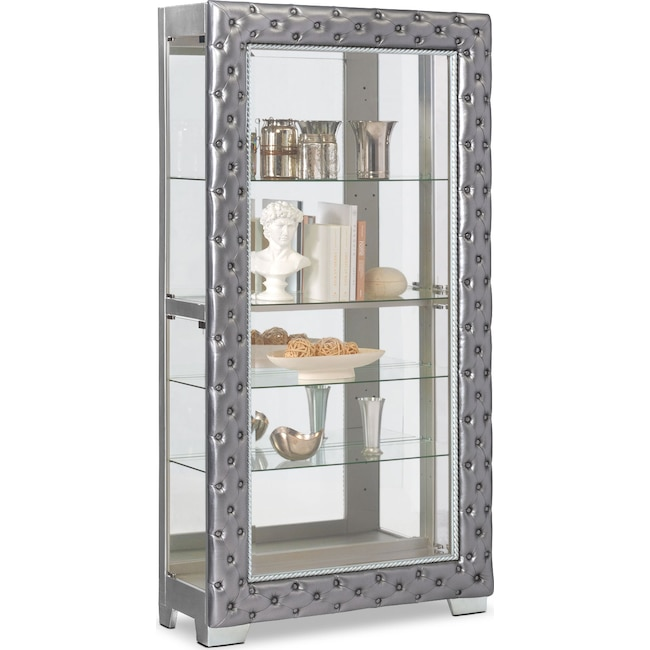 Accent and Occasional Furniture - LaSalle Curio - Pewter