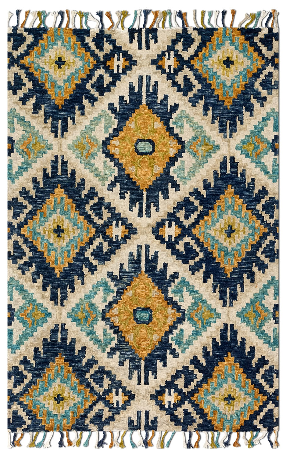 Rugs - Brushstroke 8' x 10' Rug - Ivory and Marine