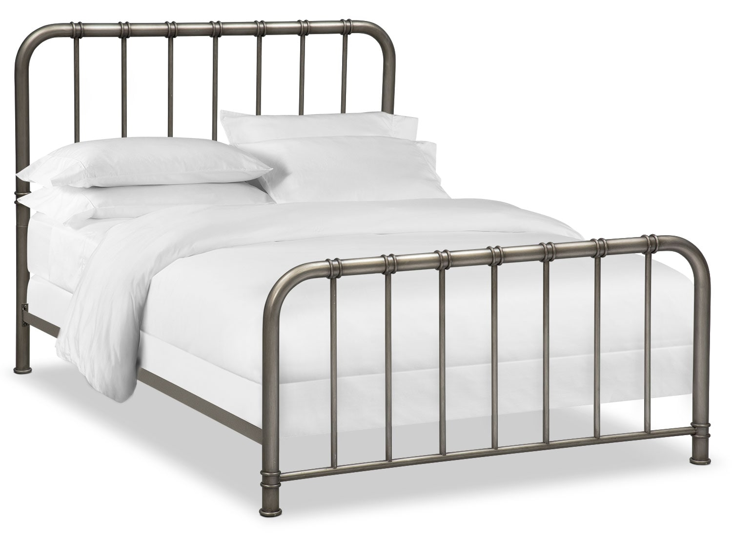 Pendleton King Bed - Gunmetal