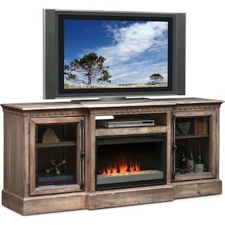 "Claridge 74"" Contemporary Fireplace Media Stand - Gray"