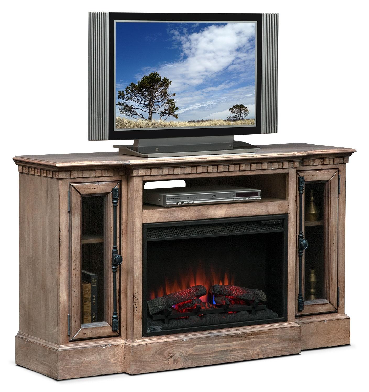 "Claridge 54"" Traditional Fireplace Media Stand - Gray"