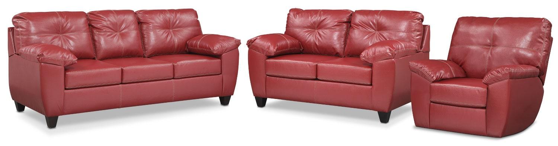 The Rialto Living Room Collection - Cardinal