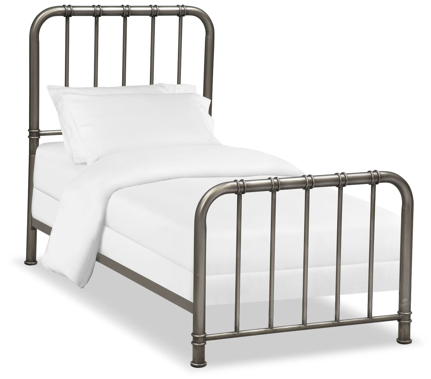 Bedroom Furniture - Pendleton Youth Twin Bed - Gunmetal
