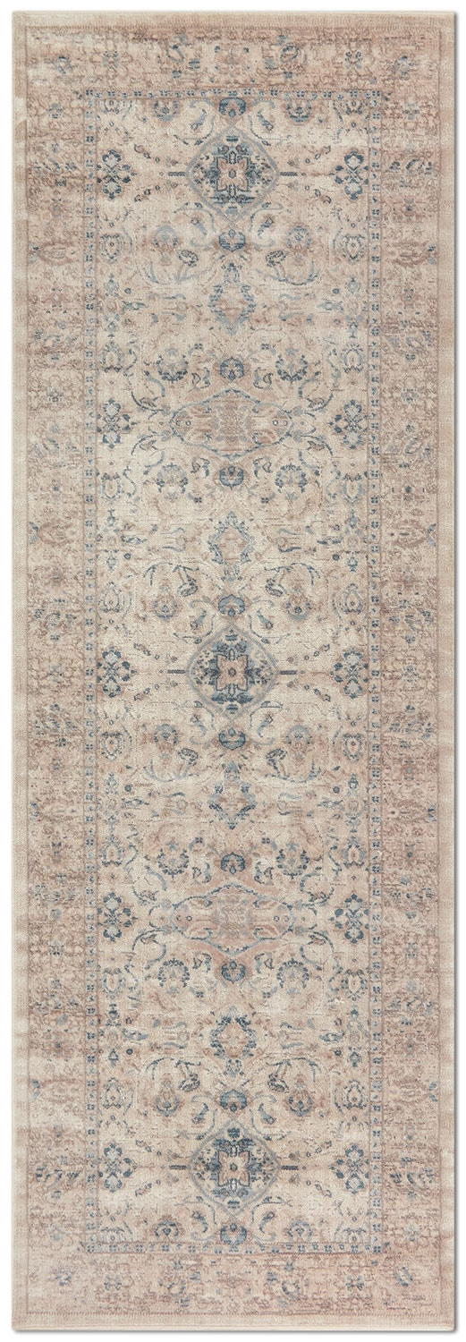 Ella Rose 3' x 8' Rug - Bone
