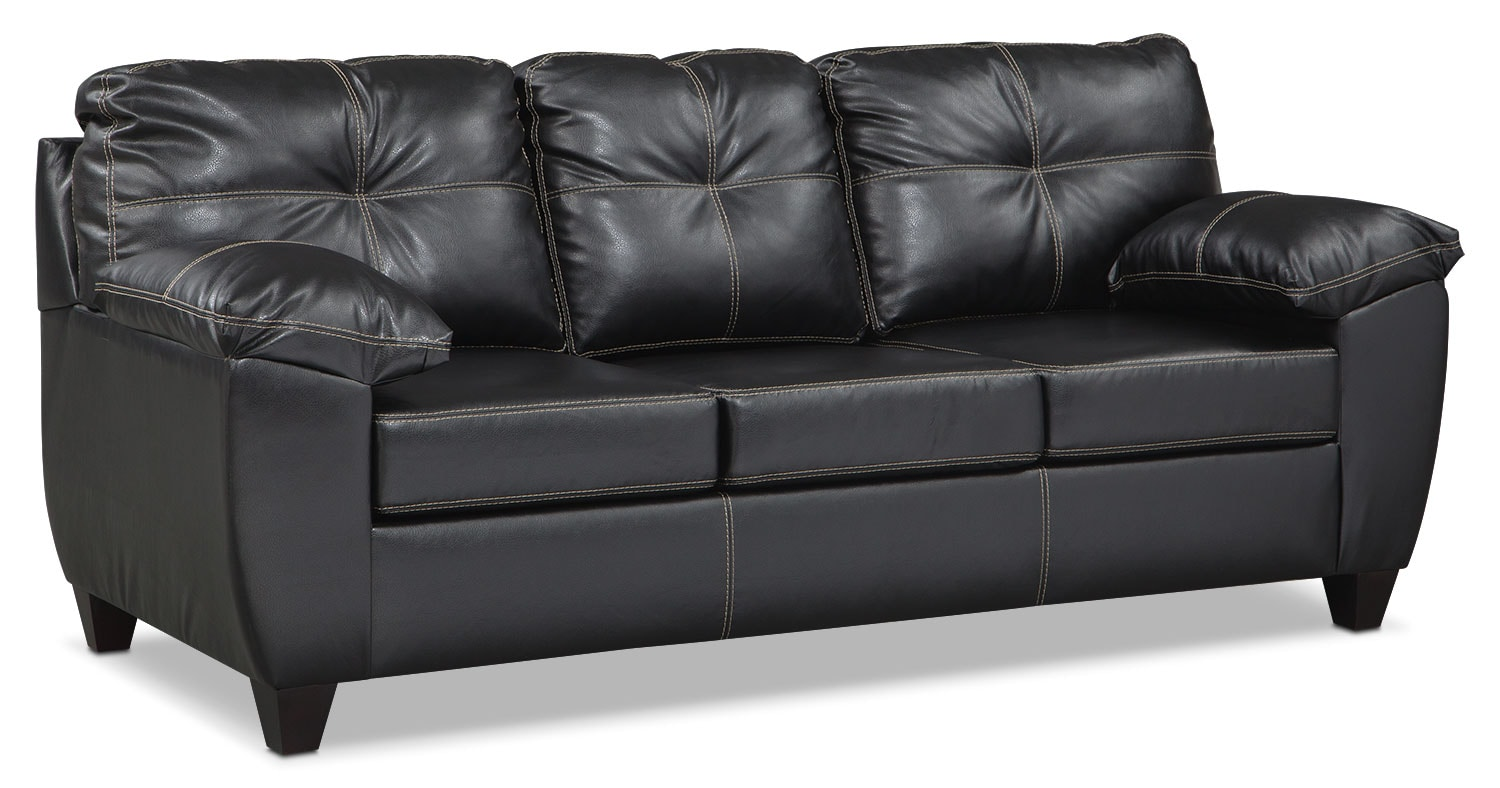 Living Room Furniture - Rialto Queen Memory Foam Sleeper Sofa - Onyx