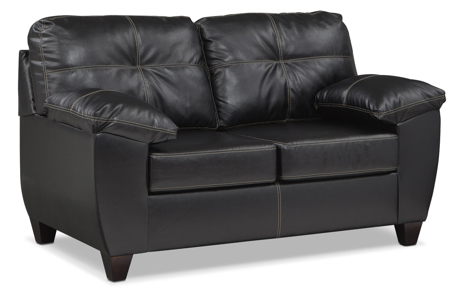 Living Room Furniture - Rialto Loveseat - Onyx