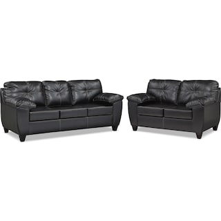 Ricardo Queen Innerspring Sleeper Sofa and Loveseat Set