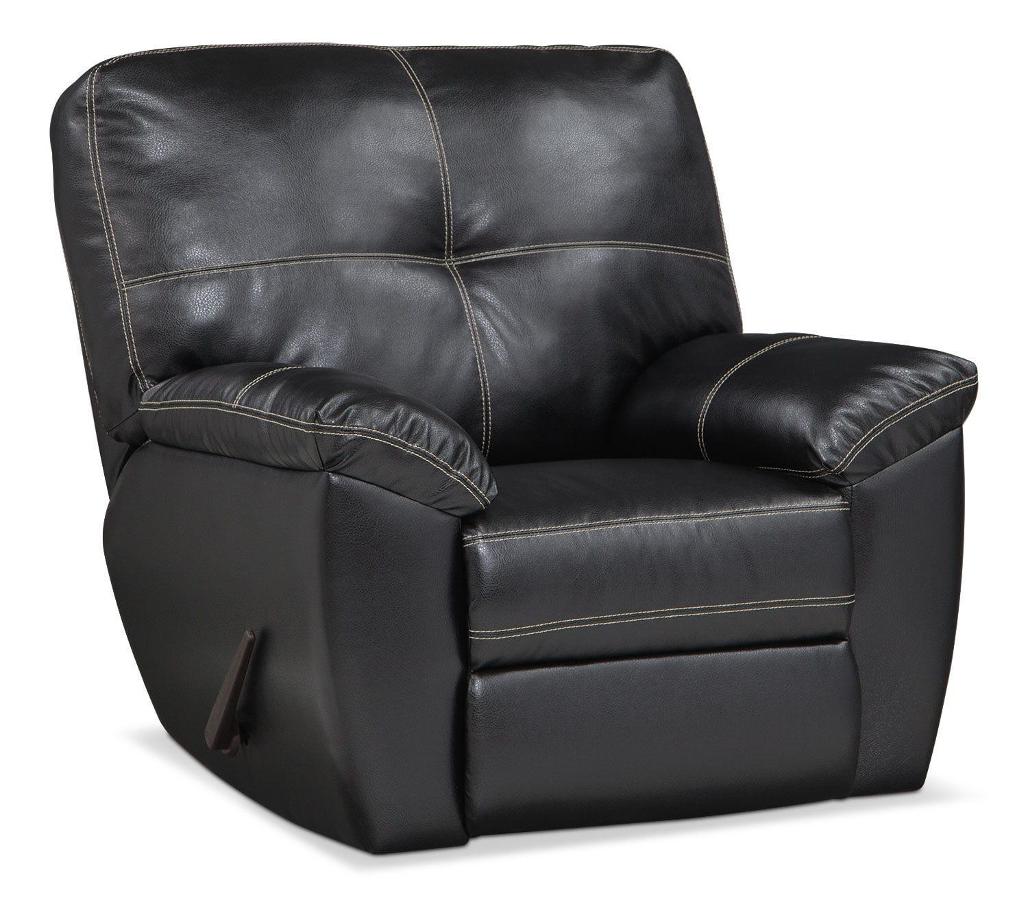 Living Room Furniture - Rialto Glider Recliner - Onyx