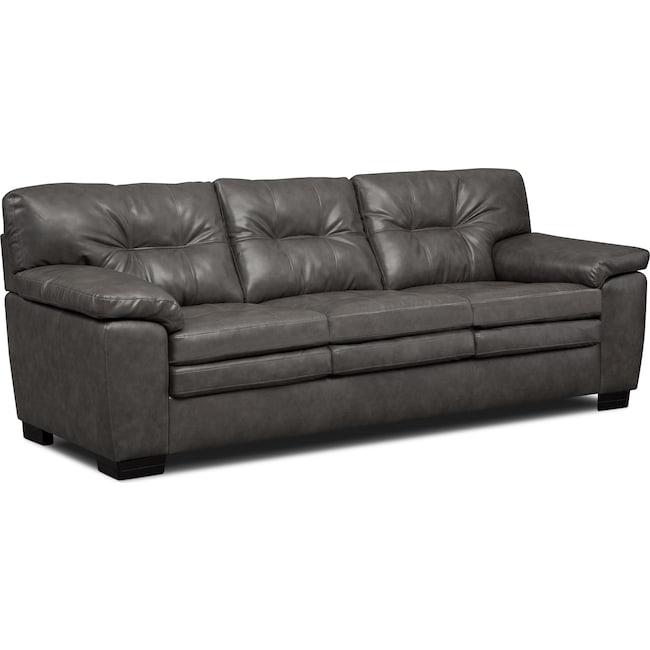 Living Room Furniture - Magnum Sofa - Gray