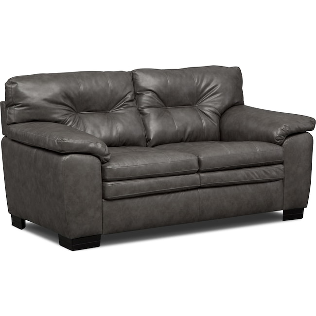 Living Room Furniture - Magnum Loveseat - Gray