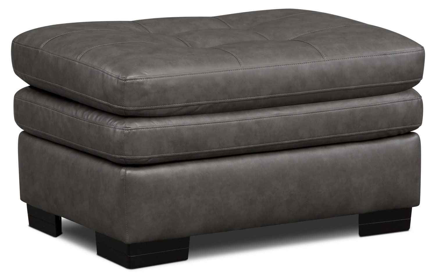 Living Room Furniture - Magnum Ottoman - Gray