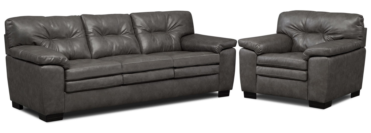Magnum Sofa and Chair Set - Gray