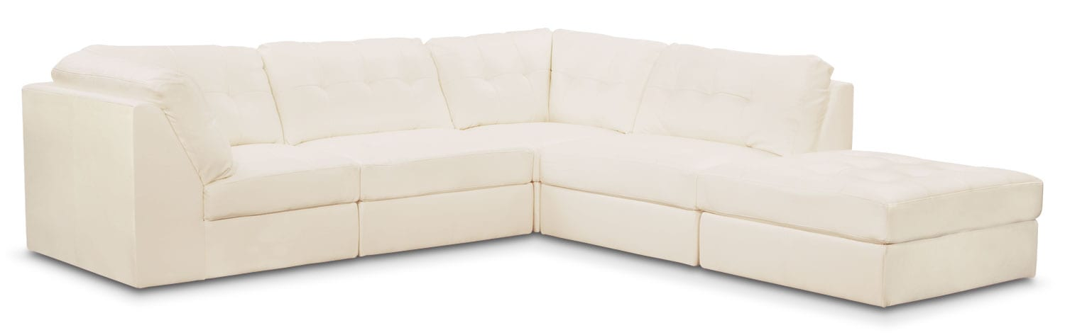 Cayenne 5-Piece Modular Sectional - White