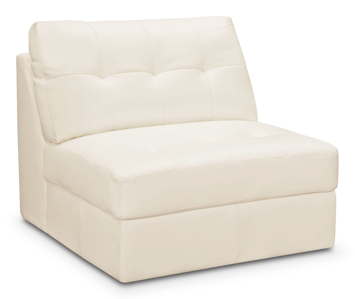 Cayenne Armless Chair - White