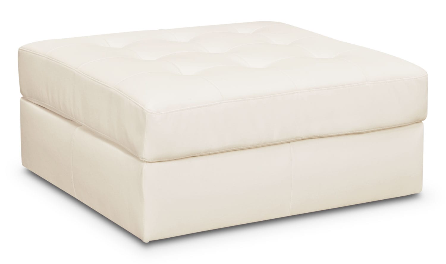 Living Room Furniture - Cayenne Ottoman - White