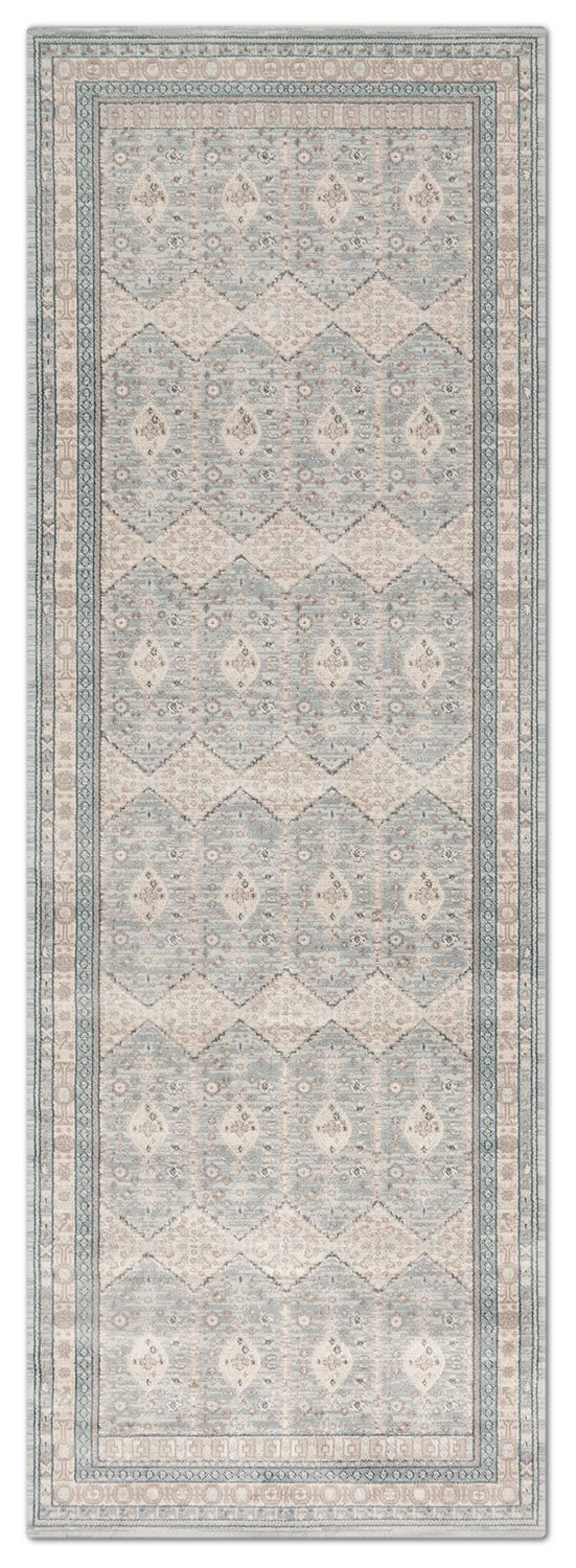 Rugs - Ella Rose 3' x 8' Rug - Mist and Stone