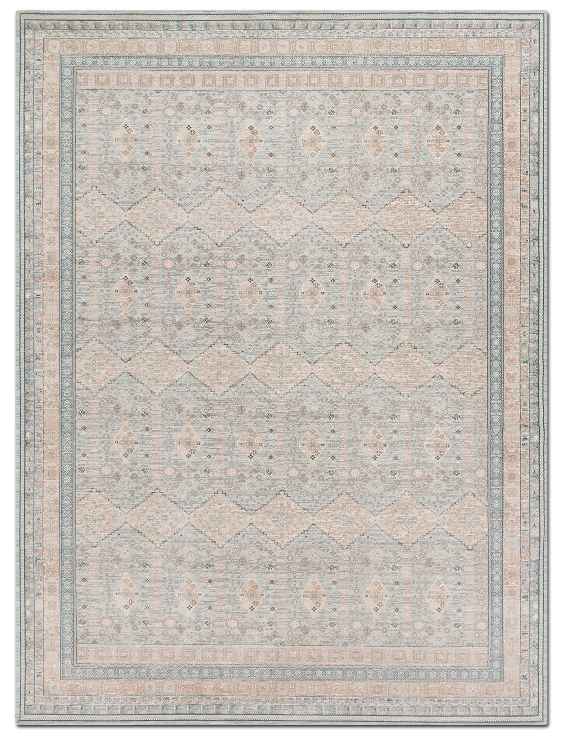Rugs - Ella Rose 7' x 11' Rug - Mist and Stone