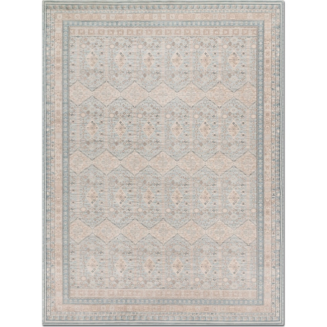 Rugs - Ella Rose 4' x 6' Rug - Mist and Stone