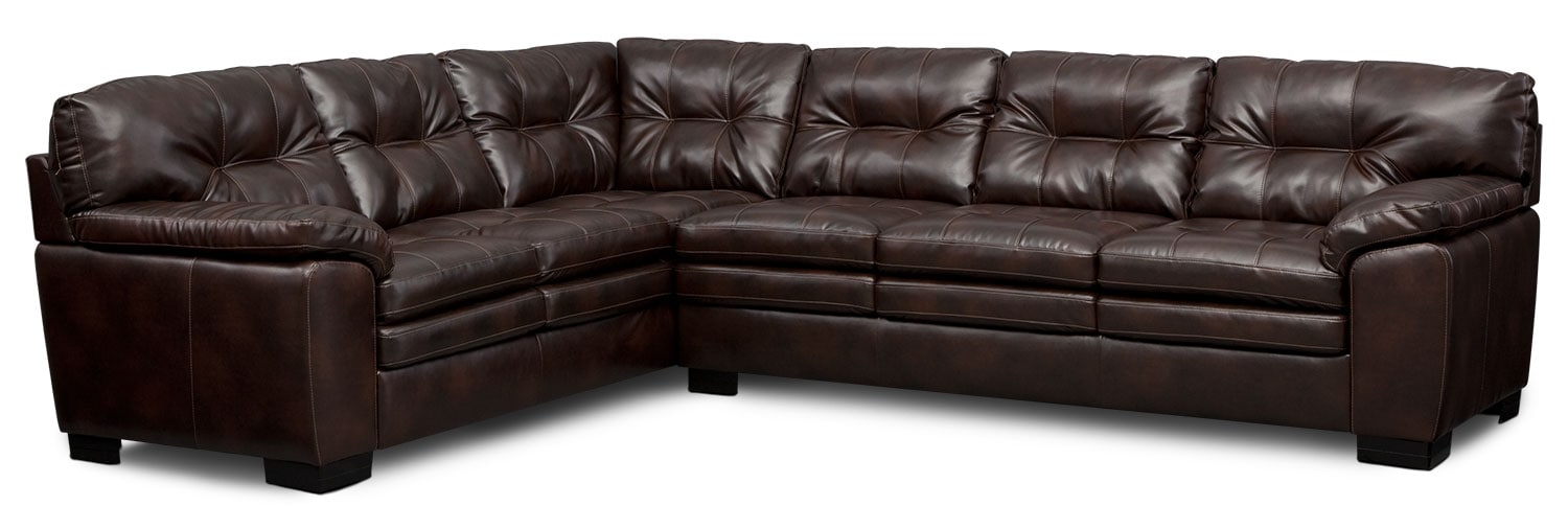 living room furniture magnum 2piece sectional brown