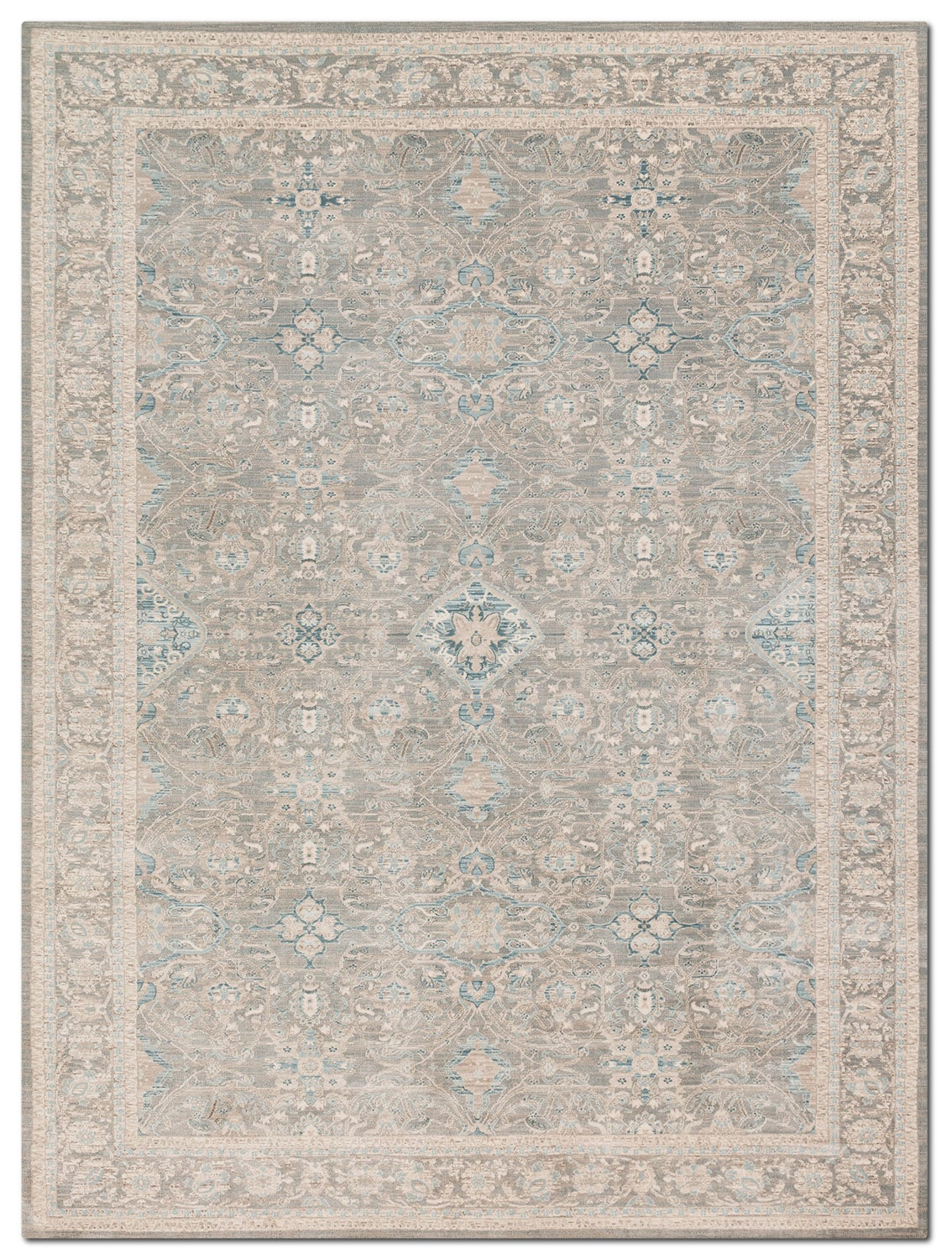Rugs - Ella Rose 4' x 6' Rug - Steel